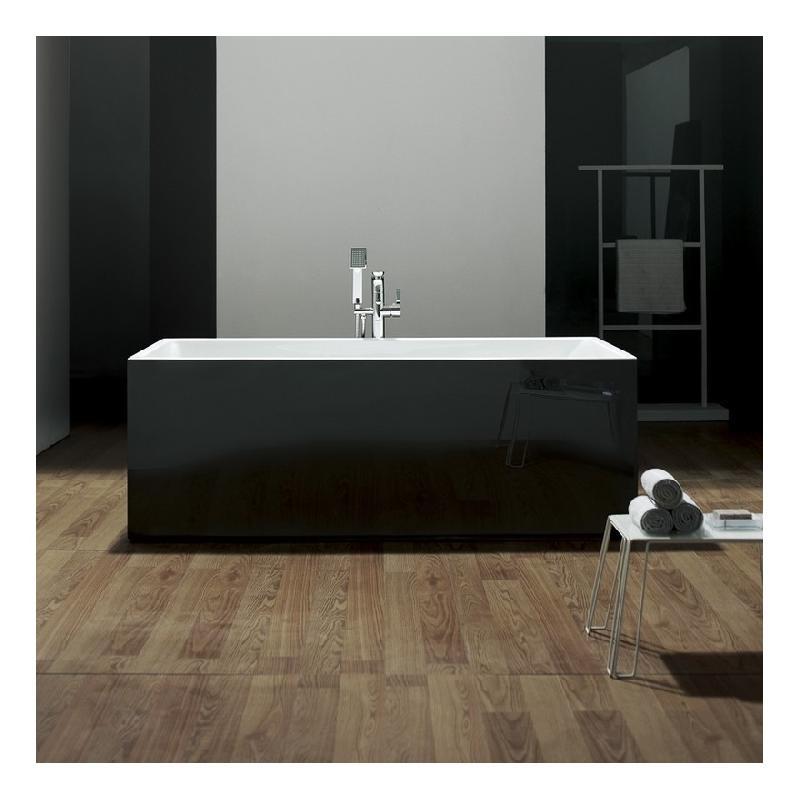 baignoire lot rectangulaire noire 170x80 cm acrylique line rue du bain comparer les prix. Black Bedroom Furniture Sets. Home Design Ideas