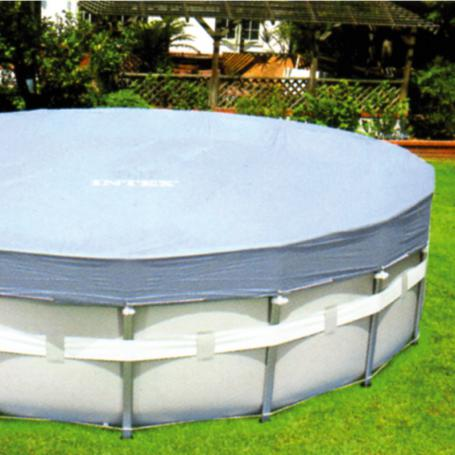 Baches de protection piscine tubulaire intex for Protection piscine