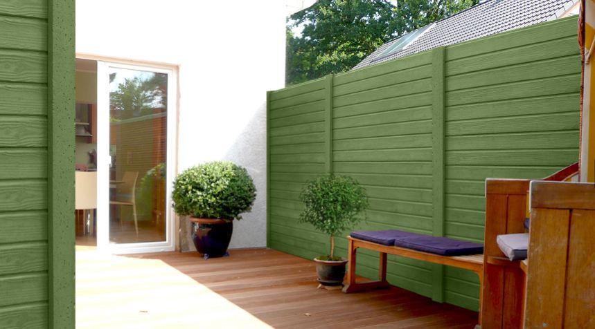 clotures en beton aspect bois lasuree bois finition droite. Black Bedroom Furniture Sets. Home Design Ideas
