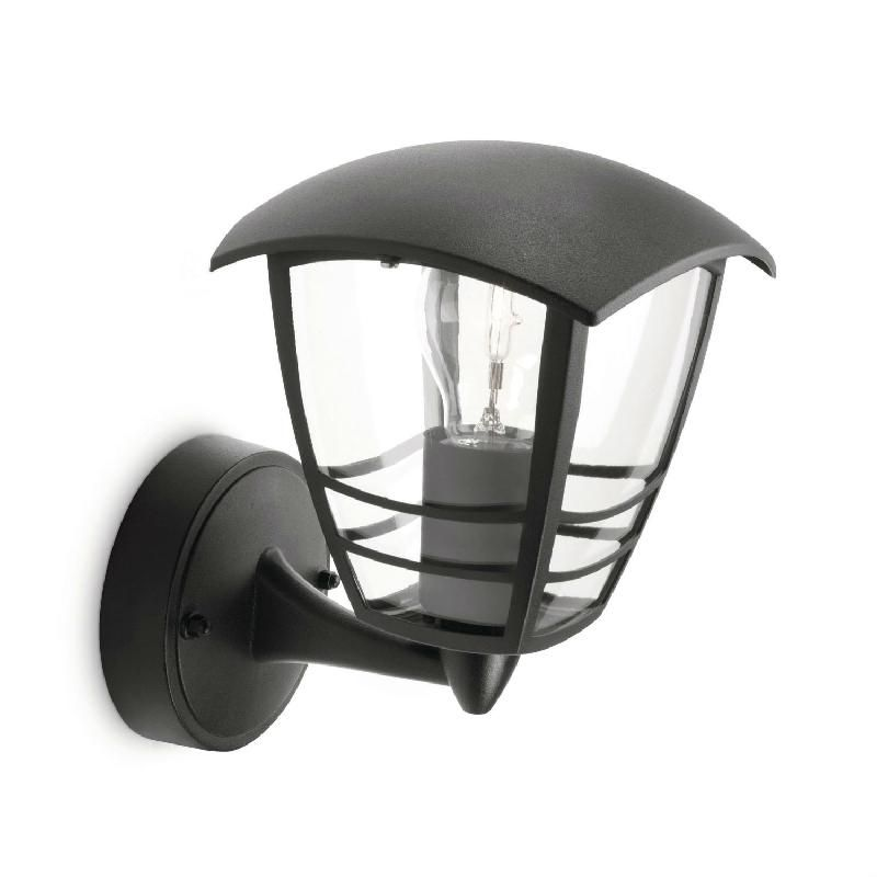 Creek applique d 39 ext rieur montante noir h20cm for Luminaire exterieur philips