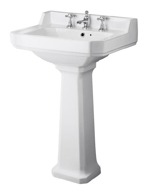 lavabo r tro sur colonne 3 trous 56cm hudson reed comparer les prix de lavabo r tro sur. Black Bedroom Furniture Sets. Home Design Ideas