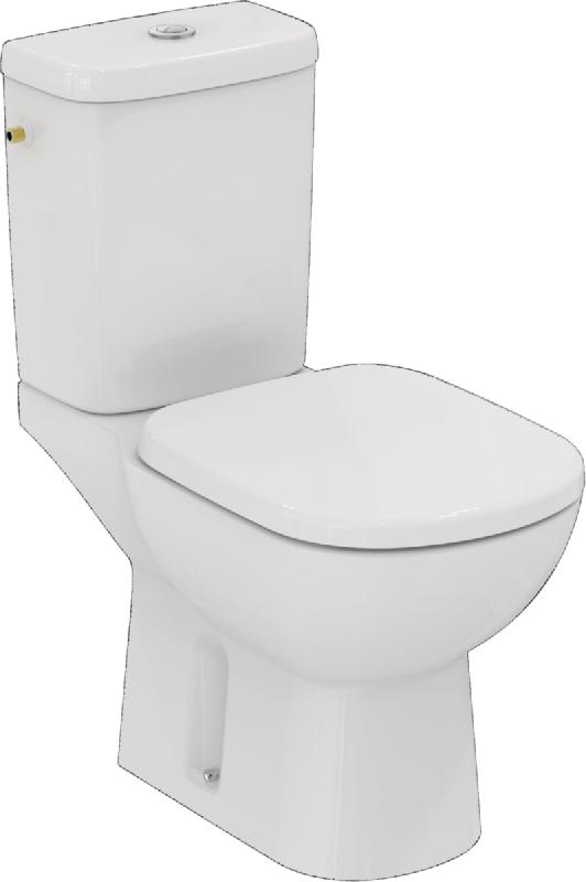 pack wc kheops pret a poser avec abattant sortie horizontale blanc ref t330401. Black Bedroom Furniture Sets. Home Design Ideas