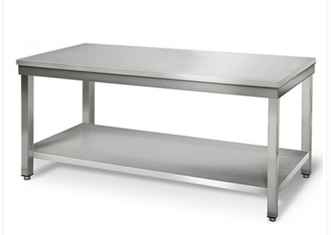 table inox 200cm sans rebord. Black Bedroom Furniture Sets. Home Design Ideas