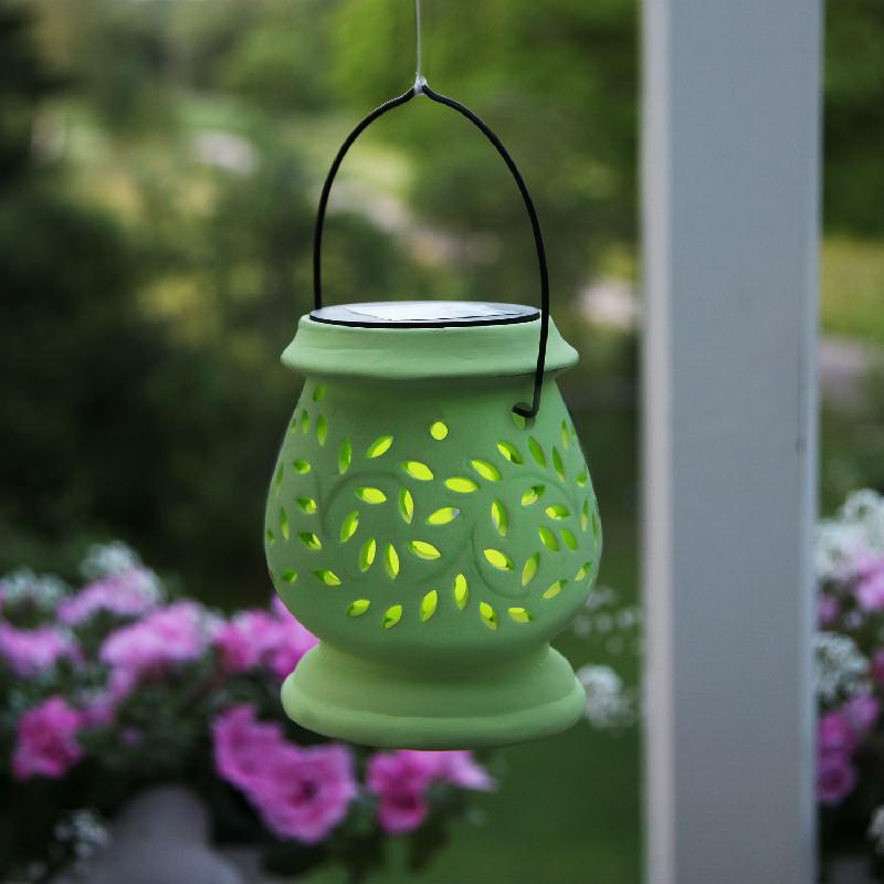 Clay lantern lanterne solaire d 39 ext rieur led vert h14 for Lanterne exterieur led