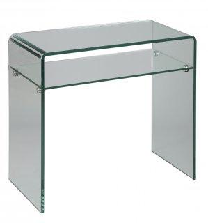 console en verre cristal compact. Black Bedroom Furniture Sets. Home Design Ideas