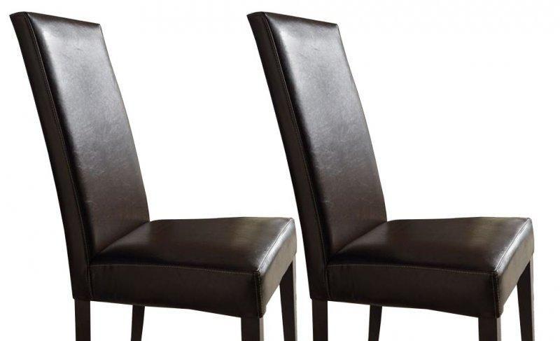 Chaise salle a manger marron great lot chaises en rotin for Chaise cuir marron