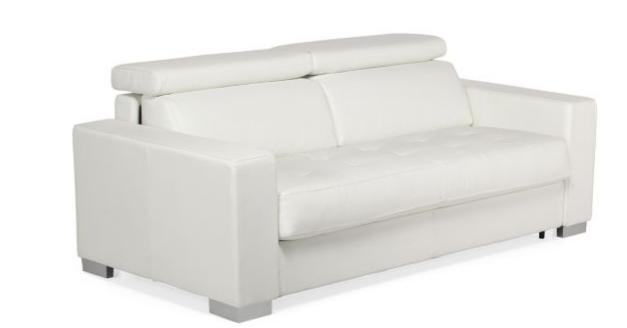 mauro canape 3 places fixe en cuir de buffle. Black Bedroom Furniture Sets. Home Design Ideas