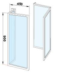 Presto paroi douche escamotable 60204 comparer les prix de for Porte douche escamotable