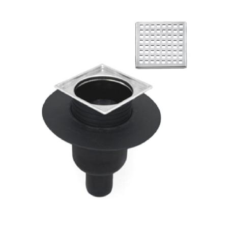 siphon de sol pour douche l 39 italienne sortie verticale cube comparer les prix de siphon de. Black Bedroom Furniture Sets. Home Design Ideas