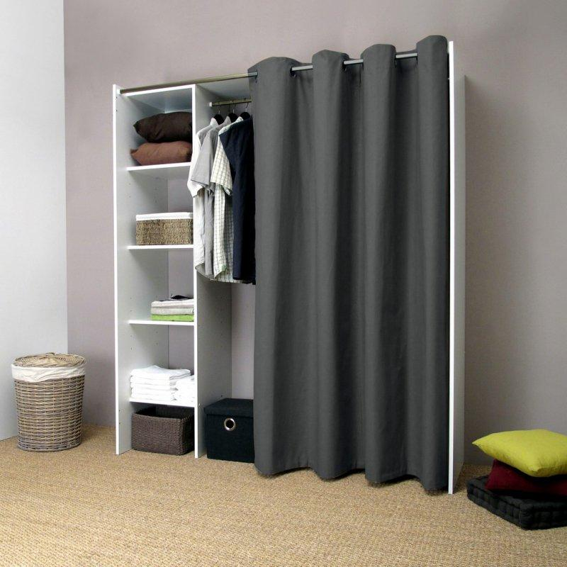 pix dressing extensible blanc rideau anthracite avec. Black Bedroom Furniture Sets. Home Design Ideas