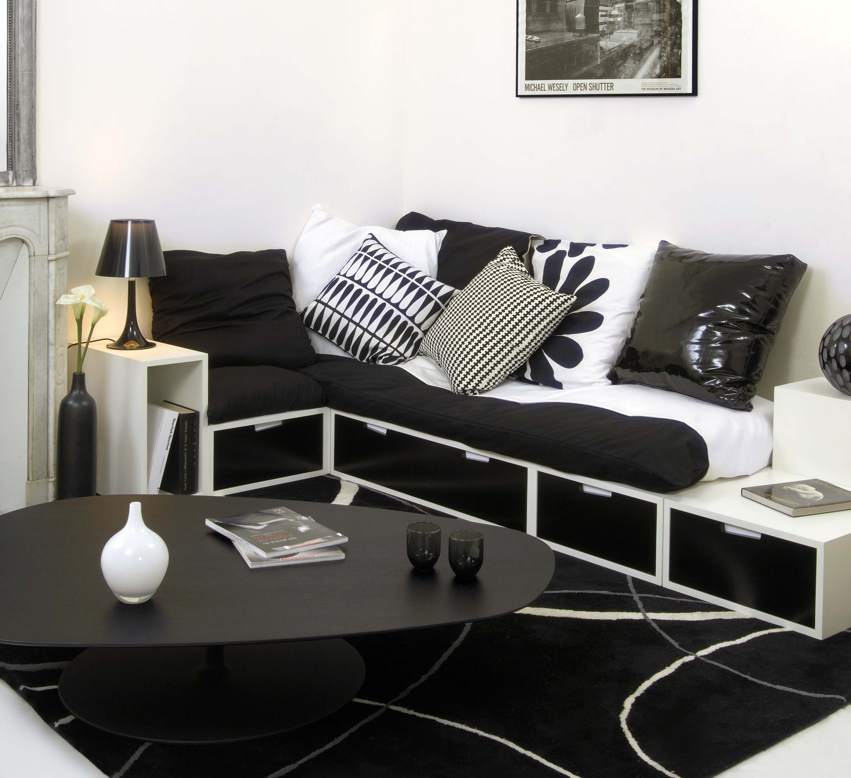 banquette salon. Black Bedroom Furniture Sets. Home Design Ideas