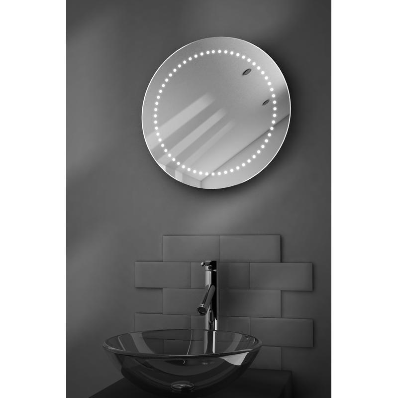 Miroir salle de bain ultra fin avec lumi res led capteur et antibu e mirage diamond x - Miroir salle de bain led integre ...