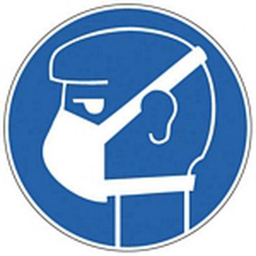 Panneau d 39 obligation port d 39 un masque obligatoire - Pictogramme port du masque obligatoire ...