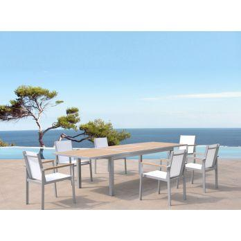salon de jardin marvin 10 couverts table 200 300 x 100 cm comparer les prix de salon de jardin. Black Bedroom Furniture Sets. Home Design Ideas