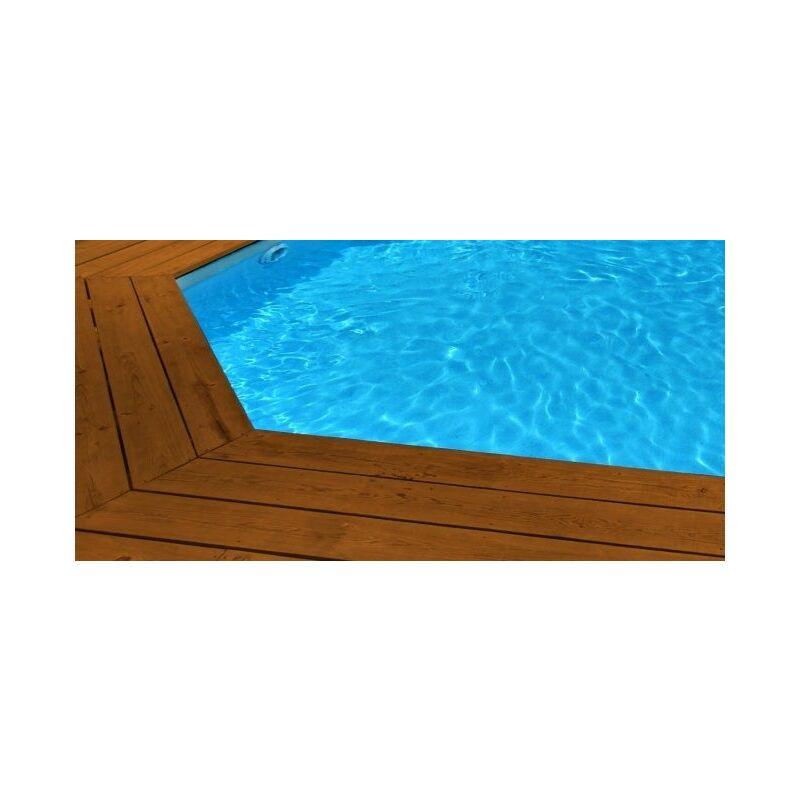Liner 75 100 pour piscine cristaline octogonale 404 x 94 for Liner piscine octogonale