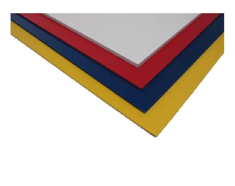 PLAQUE PVC EXPANSÉ COULEUR - COLORIS - ROUGE, EPAISSEUR - 5 MM, LARGEUR - 50 CM, LONGUEUR - 100 CM - MCCOVER