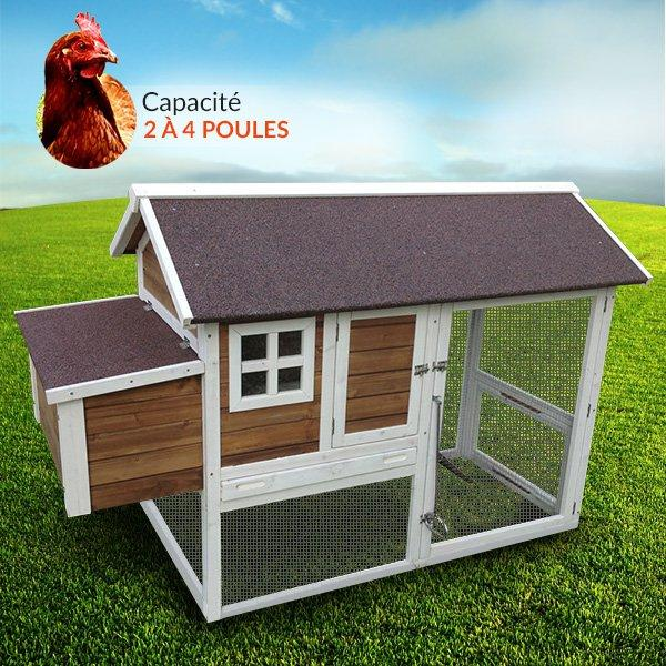 Poulailler lucky for Surface poulailler 2 poules