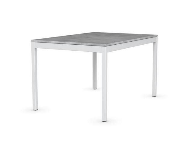 Calligaris table extensible snap gris b ton pi tement for Table extensible gris laque