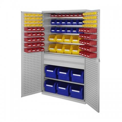 armoire grande capacite rasterplan avec bacs a bec et tiroirs au milieu h1950xl1130xp590mm. Black Bedroom Furniture Sets. Home Design Ideas