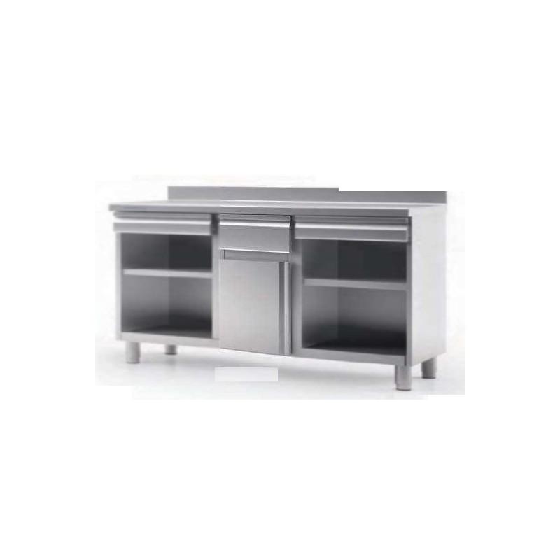 meuble bas inox pour caf tirroirs 1500 x 600 x1040 comparer les prix de meuble bas inox pour. Black Bedroom Furniture Sets. Home Design Ideas