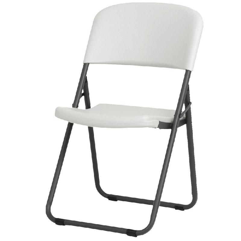 Chaise Pliante Loop Leg Blanche