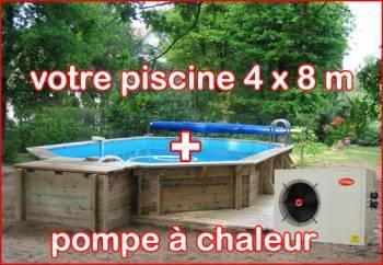 piscine bois avec pompe chaleur. Black Bedroom Furniture Sets. Home Design Ideas