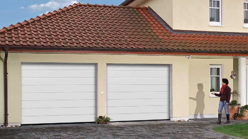 Porte De Garage Sectionnelle Europro Motorisee Double Paroi - Porte garage double