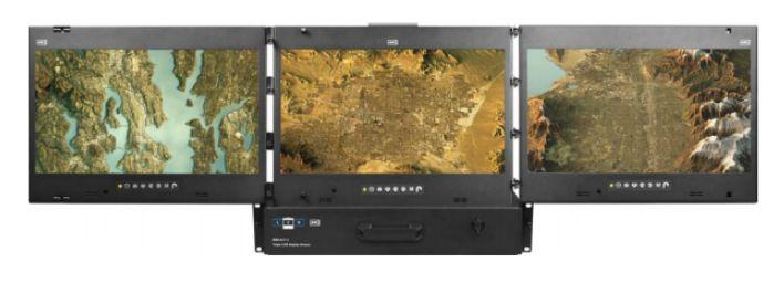 """Ps-cv-mrp - tiroir de console multi-écrans châssis 22"""" 2u sans clavier"""