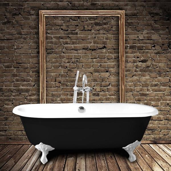 baignoire ancienne en fonte plymouth noire 170 cm comparer les prix de baignoire ancienne en. Black Bedroom Furniture Sets. Home Design Ideas