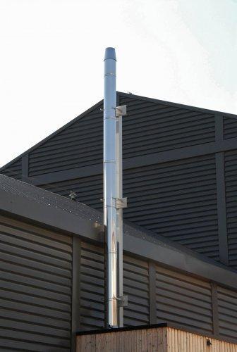 Conduits d 39 evacuation de fumee industrielle tous les - Conduit de fumee exterieur ...