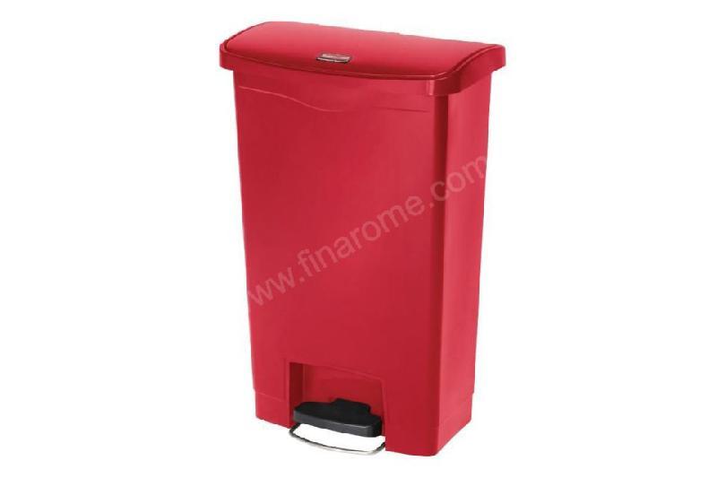 poubelle p dale frontale professionnelle rouge 50 l. Black Bedroom Furniture Sets. Home Design Ideas