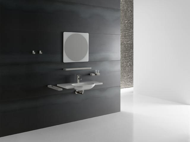 lavabo extra plat vasque ovale avec poign es incorpor es. Black Bedroom Furniture Sets. Home Design Ideas