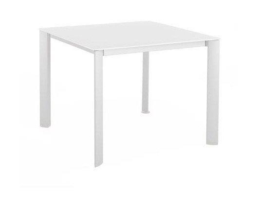 TABLE DE JARDIN LOFT ARDOISE EN RÉSINE ET ALUMINIUM ...