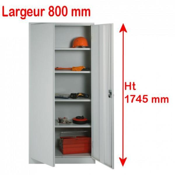 armoire porte battante h 1780 x l 800 mm. Black Bedroom Furniture Sets. Home Design Ideas