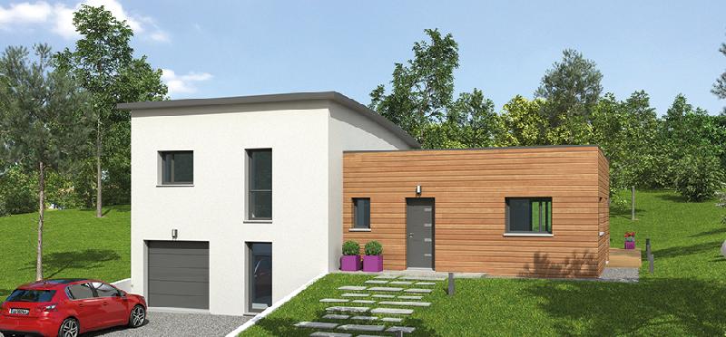 Natilia produits maisons a ossature en bois for Maison demi niveau plan