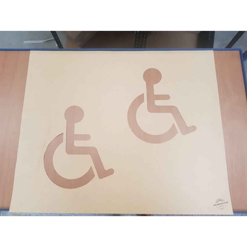 Pochoir handicapé - rubalise - 30cm*25cm