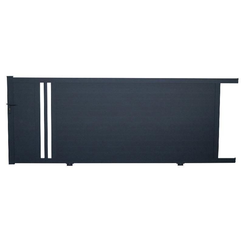 portail coulissant aluminium ceres gris anthracite x cm. Black Bedroom Furniture Sets. Home Design Ideas