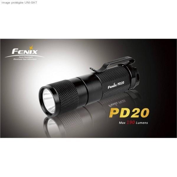 LAMPE DE POCHE 190 LUMENS PD20