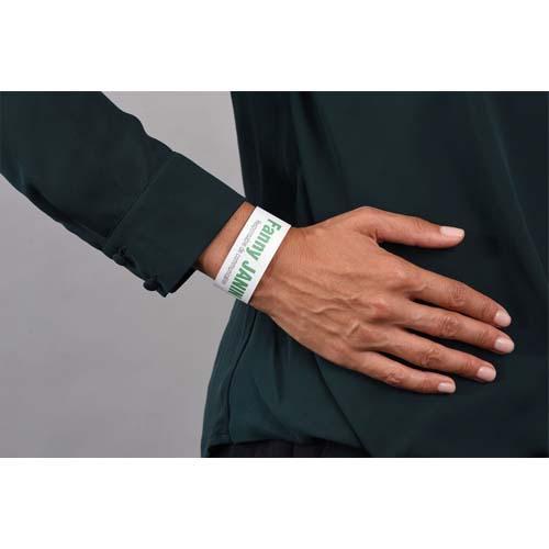 Avery sachet de 50 bracelets d identification imprimables laser blanc 26,5 x 1,8 cm