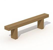 banc en traverse neuves en chene p 105. Black Bedroom Furniture Sets. Home Design Ideas