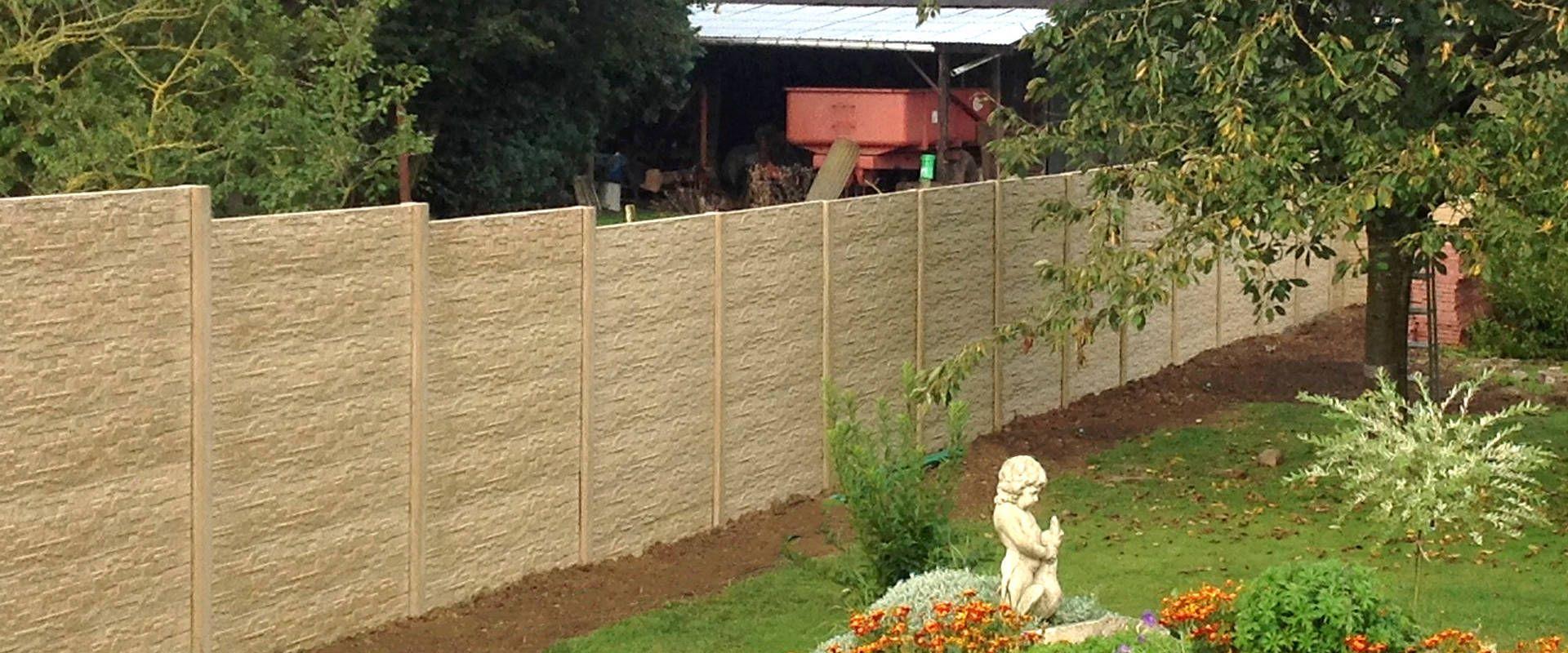 Clôture en béton imitation pierre sèche - clôture imagine