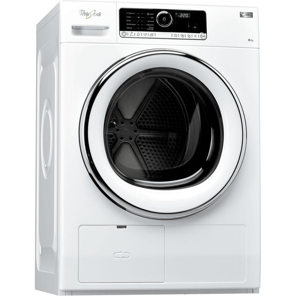 Sèche-linge à pompe à chaleur whirlpool : posable, 8 kg - hscx 80421