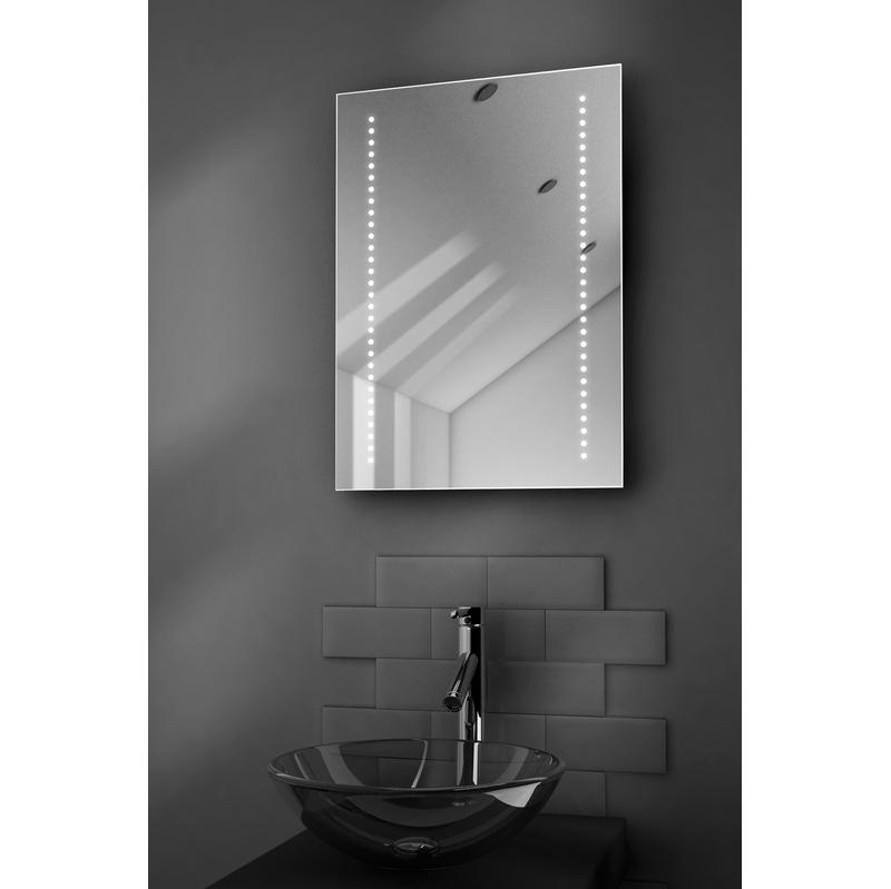 miroir de salle de bain gaze a piles lumineux led avec corledette k2 diamond x collection. Black Bedroom Furniture Sets. Home Design Ideas