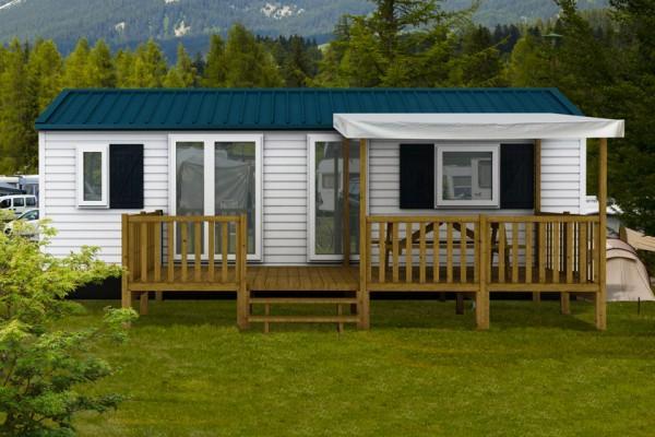 terrasse de mobil homes meaban semi couverte. Black Bedroom Furniture Sets. Home Design Ideas
