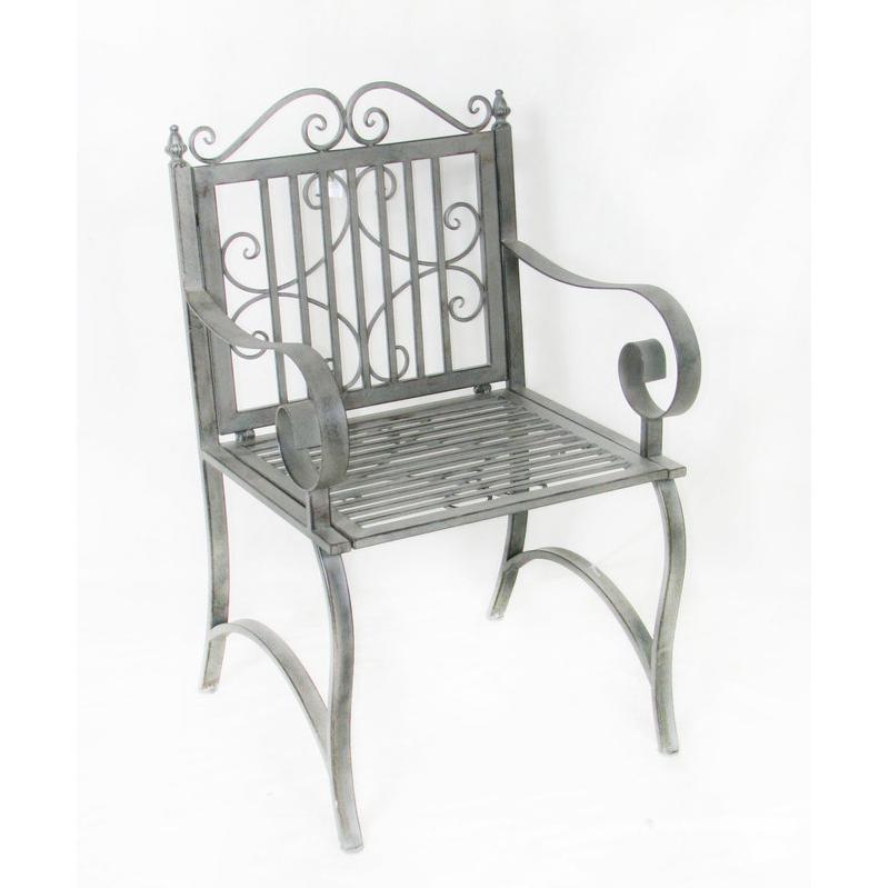Chaise et fauteuil d 39 ext rieur charles bentley achat for Fauteuil jardin fer forge