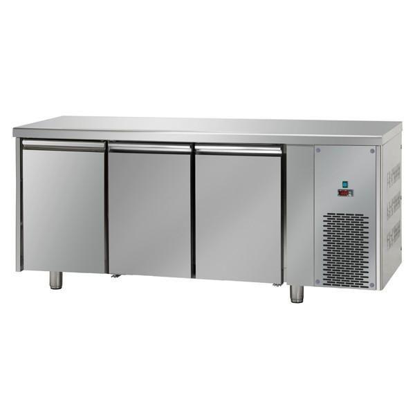 Table réfrigérée négative 3 portes inox sans dosseret
