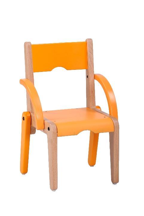Fauteuil lili t0 assise accoudoirs orange comparer les - Chaise enfant avec accoudoirs ...