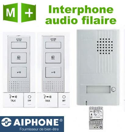 interphone audio filaire 2 combin s main libre aiphone db2int comparer les prix de interphone. Black Bedroom Furniture Sets. Home Design Ideas