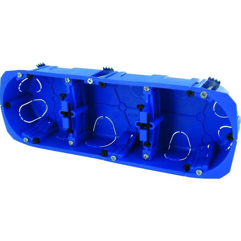 5 Boitiers Double d/'encastrement multimatériaux RT2012 No Air prof 40 ent 71 mm