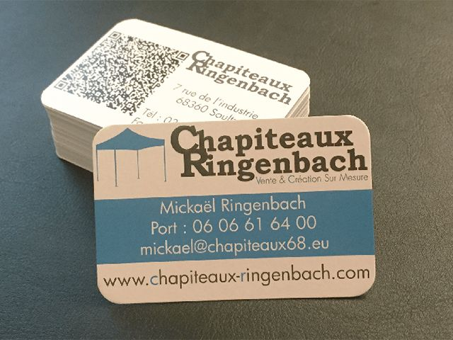 carte de visite chapiteaux ringenbach. Black Bedroom Furniture Sets. Home Design Ideas